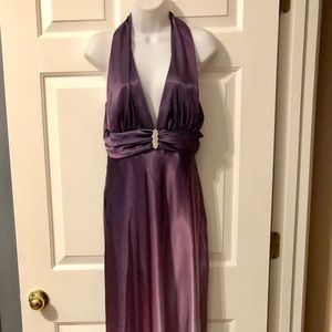 Betsy & Adam by Linda Bernell Purple Evening Gown